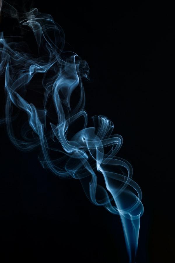 Photo of smoke rising.